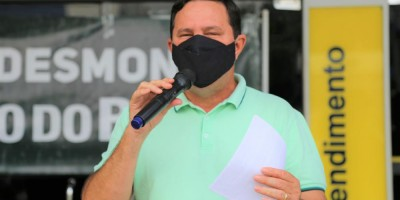 Imagem em Protesto contra o desmonte do Banco do Brasil