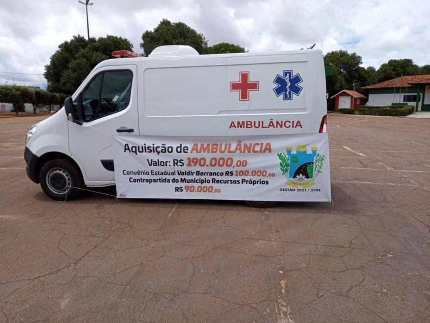 Tabaporã recebe ambulância zero quilômetro fruto de Emenda do deputado Barranco
